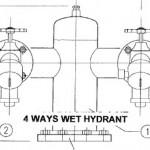 4ways wet hydrant