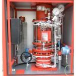 Deluge valve in enclosure