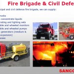 Fire brigade and civil defence