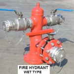 Fire hydrant wet