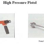 High pressure pistol