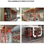 Pre-assembled pumping stations